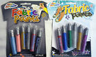 6 Fabric Paint Pens (Metallic or Glitter) Great for Kids Play or end of year