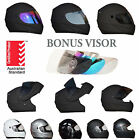 NEW FULL FACE MODULAR FLIP UP MOTORCYCLE HELMET & EXTRA VISOR ROAD MOTOR BIKE