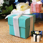 Внешний вид - 25/50/100 Wedding Favor Boxes Baby Shower Baptism Party Gift  Pink White