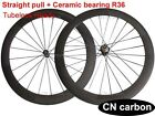 Straight pull +Ceramic bearing 60mm Clincher carbon road wheels Tubuless ready
