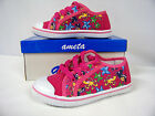New Toddler Girl Canvas Low -Top Athletic Shoe  (Fushia - Sealife ) Sizes 6 - 9
