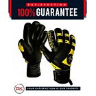 GK Saver Passion Black Negative Cut Goalkeeper Gloves Football Goalie Pro Gloves