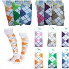 1-3  ARGYLE CHECK DIAMOND STRETCH OVER KNEE SOCKS PUB GOLF FANCY DRESS