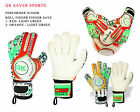 Goalkeeper Gloves Kids/Adults Football League Youth Roll FingerSave GK Gloves