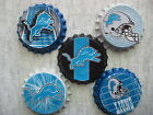 Detroit Lions Scrapbooking Crafts Bottle Caps Set #1 - Magents Badge Reels $5.99 USD on eBay