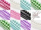 50G X MIXED SIZED 4-12MM GLASS PEARL BEADS, TOP QUALITY, YOU CHOOSE COLOUR.