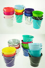 silver metal buckets - Large XL Metal Sand Water Paint Pails Buckets Party Favor Wedding Baby Shower