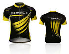 Spakct Cycling Bicycle Short Jersey Short Sleeves-Phantom Black Yellow