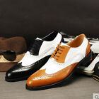 Vintage Mens Oxford Brogue Wingtip Genuine Leather Dress Formal Casual Shoes SZ