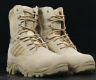 Men's Lace Up Leather Fashion Combat Military Ankle Boots Mens Army Shoes Size