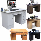 Computer Desk,PC Table Office Desk Workstation 4 Home Office Furniture With Lock