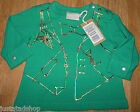 Diesel baby girl t-shirt  top size 0-3 m BNWT designer green  gold print