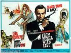 James Bond 007 From Russia With Love Film Canvas Wall Art Movie Poster Print £20.0 GBP