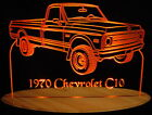 "1970 Chevy Pickup C10 Edge Lit Acrylic Light Up LED Sign 11""-13"" 70 VVD1 USA"