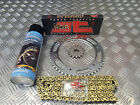 HYOSUNG GT 125 COMET JT GOLD UPRATED CHAIN AND SPROCKET S KIT + LUBE QUALITY