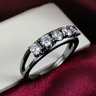 18K Black Gold Rings Zircon Crystal Creative Jewelry Women High-grade Brand Gift