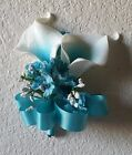 Turquoise Real Touch Calla Lily Corsage or Boutonniere