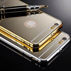 1X NEW Luxury Aluminum Ultra-thin Mirror Metal Case Cover for iPhone 6 4.7inch