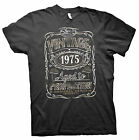 Vintage Aged To Perfection 1975 - Distressed Print - 40th Birthday Gift T-shirt