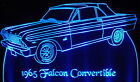 "1965 Falcon Convertible Edge Lit 11-13"" Lighted Sign LED Plaque 65 VVD3 USA"