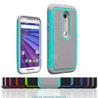 Shockproof Rugged Rubber Matte Hard Protect Case Cover For Motorola Moto G3 3rd