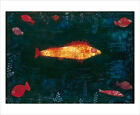 Klee - Golden Fish - fine art giclee print poster - various sizes
