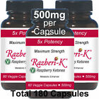 Maximum Potency Pure Raspberry Ketones 500mg 180 Capsules ketone