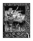 Beardsley Sir Bedivere Throws Excalibur knight fine art print - various sizes