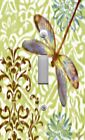 Light Switch Plate & Outlet Covers DRAGONFLY GREEN & BROWN ORNATE