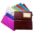 Slim Long Genuine EEL skin Wallet Mens Womens Diagonal Purse with Coin Slot