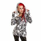 HEARTLESS OCCULT STAR HOODIE LADIES WHITE BLACK TOP GOTHIC POIZEN NEW HOODED