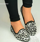 Ladies Animal Print Ballerina Flats Womens Ballet Dolly Pumps Slip On Shoes Size