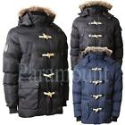 Max Edition Faux Fur Hood Padded Jacket  Mens Size