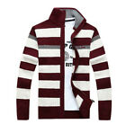 Fashion Warm Mens Cardigan Sweater Knitted Jacket Stand Collar Coat Jacket