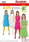 Simplicity 1609 Sewing Pattern 1960's A Line Shift Dress Collar Ladies Size 6-22