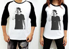 UNISEX Austin Mahone OK Women Men White Shirt Long Sleeve 3/4 Raglan TShirt