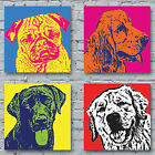 Pop Art Dogs Canvas Print - The Dogs Of Andy Warhol gift bright colours wall hal
