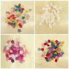 100 'Lucite' mixed flowers 10mm frosted and trans jewellery beading mixes