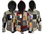Patchwork Hippie Boho Knitted Himalayan Woolen Winter Nepalese Hoodies Jackets