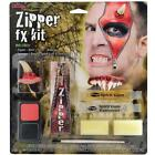 HALLOWEEN DEVIL ZIPPER CHARACTER MAKE UP KIT SCARY MAKE UP WOUND FANCY DRESS KIT