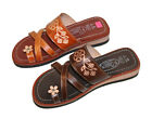 LADIES LEATHER MEXICAN SANDAL HUARACHE SLIP ON WOMEN ALL SIZES FLORAL SANDAL