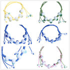 6 Colors Charms Fashion Hand Made Ceramic Beads Weave Adjustable Rope Bracelet