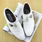 Mens Stylish Business Retro Casual Formal Pleated Slip on Work Shoes Dress Shoes