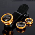 3in1 fish Eye Macro Wide Angle Mobile Phone Lens Camera Fit Universal iphone ect