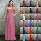 One Shoulder Bridesmaid Formal Prom Gowns Party Evening Ball Dresses Size 6-26