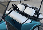 Club Car Pre-2000 DS Custom Golf Cart Front Seat Cover Set - NO STRIPE STAPLE ON