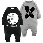 Lovely Baby Girls Boys Cotton Romper Jumpsuit Playsuit to the Moon Outfits 0-24M