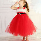 Baby Girl  Fancy Dressing Xmas Party Red Dress For 2-6 Year Baby Kids