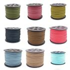 3mm Flat Faux Suede Cord Thread - 30+ Colours - 5 metres