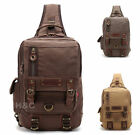 Canvas Tactical Sling Assault Chest Pack Shoulder Backpack Bicycle Hiking Bag